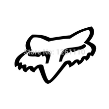 Wholesale 5pcs,10pcs,20pcs/lot Fox Racing head Vinyl Decal sticker Skate Surf Snow Scooter BMX motorbikes Car Truck Bumper(China)