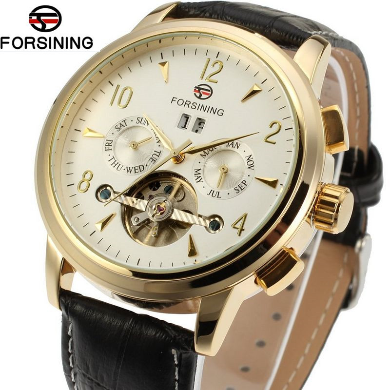 Famous Mens Watches Brand Luxury Mens Mens Tourbillon Day Auto Mechanical Watches Wristwatch  Gift Box Free Ship<br>