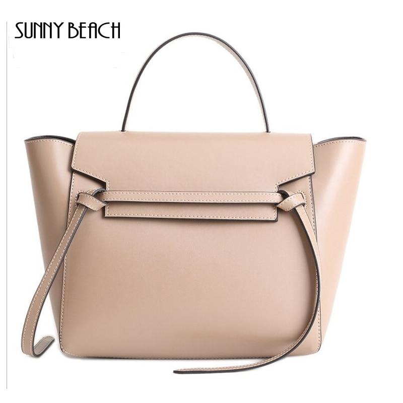 Women Casual Bags Genuine Leather Handbags Trapeze  bagsBolsa Feminina Tote Bags Crossbody Bag Female Bags<br><br>Aliexpress