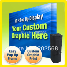 2 units Freeshiping!10' Tension Fabric Trade Show Pop Up Stand+FREE Printing(China)