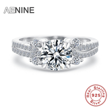 AENINE 2017 New Arrivals Collection 925 Sterling Silver Brilliant Stackable Ring Clear CZ Ring Fine Jewelry Anillos 60100815633A
