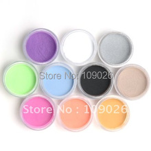 High quality 10 COLOURS Nail art ACRYLIC POWDER Free Shipping(China)