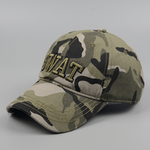 [Swing giant shark] Baseball Caps New Fashion Letter SWAT Embroidery Camo Sport Hat Outdoor Baseball Cap Men Women Cap Golf Cap(China)