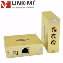 LINK-MI LM-CVHFB Composite Video Stereo Hi-Fi Audio Balun Extender Over Cat5e/6 Cable Audio extender 3250ft input NTSC PAL SECAM(China)