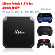 X96mini Android 7.1.2 TV Box Amlogic S905W 2GB RAM+16GB ROM/1GB+8GB Quad Core WIFI HDMI 4K*2K HD Smart Set Top BOX Media Player