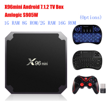 X96mini Android 7.1.2 TV Box Amlogic S905W 2GB RAM+16GB ROM/1GB+8GB Quad Core WIFI HDMI 4K*2K HD Smart Set Top BOX Media Player(China)