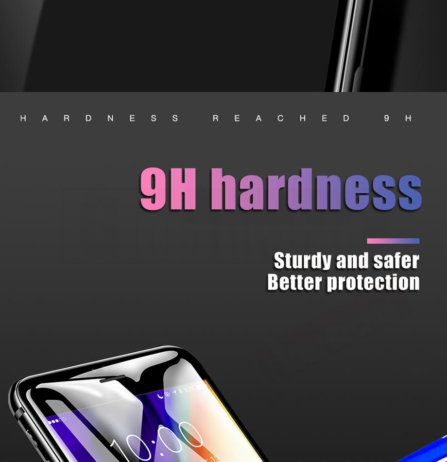 4-PC-For iPhone 6 6s Tempered Glass 5D For iPhone 7 8 Plus Screen Protector For iPhone X Film Glass