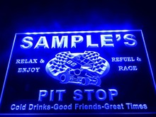 DZ022- Name Personalized Custom Pit Stop Man Cave Bar Neon Beer Sign(China)