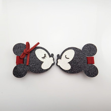 2018 New Cute Minnie Mouse Ears Hairpin Girls Kids Hair Clips Pin Accessories For Children Hair Bows Barrette Hairclip Headdress(China)