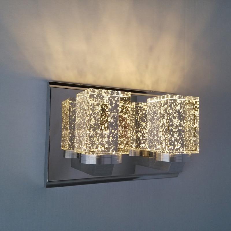 Brief modern led crystal wall lamp bedside wall lamp corridor lights double slider living room lights wall lamp<br><br>Aliexpress