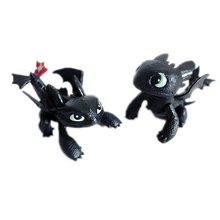 HOT Cartoon Movie How to Train Your Dragon Set of 2x Toothless Mini Action Figures PVC Dolls Collectible Toys for Kids Boys