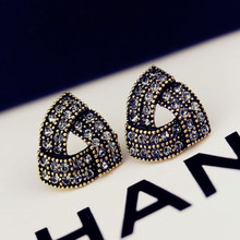 Couqcy 2015 New Fashion Stud Earrings love Hot Sale Irregular triangle earrings for Women Girls Brincos Jewelry pearl jewelry