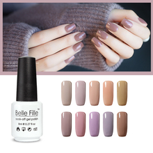 Nude Series 12 Color BELLE FILLE Nail UV Gel Polish lacquer Soak off Gel Professional Kit Cosmetics vernis semi permanent