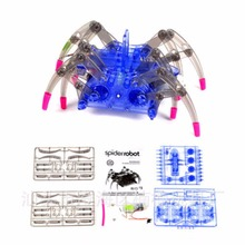 Electric Spider Robot Toy DIY Educational Intelligence Development Assembles High Quality Kids Children Puzzle Action Toys Kits