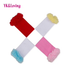 Lace Baby Leg Warmers for Baby Girl Cotton Newborn Knee Protector Multicolor Child Leggings Lace Decorated Autumn Winter WA129(China)
