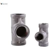"1 Pcs Tee 3 way Female Threaded Pipe Fittings Stainless Steel SS 304 (1/4"" 37mm and 1/2"" 52mm Optional)(China)"