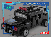 Police station SWAT Armored car jeep Military Series6506 3D Model building blocks compatible with lego city Boy Toy hobbies Gift