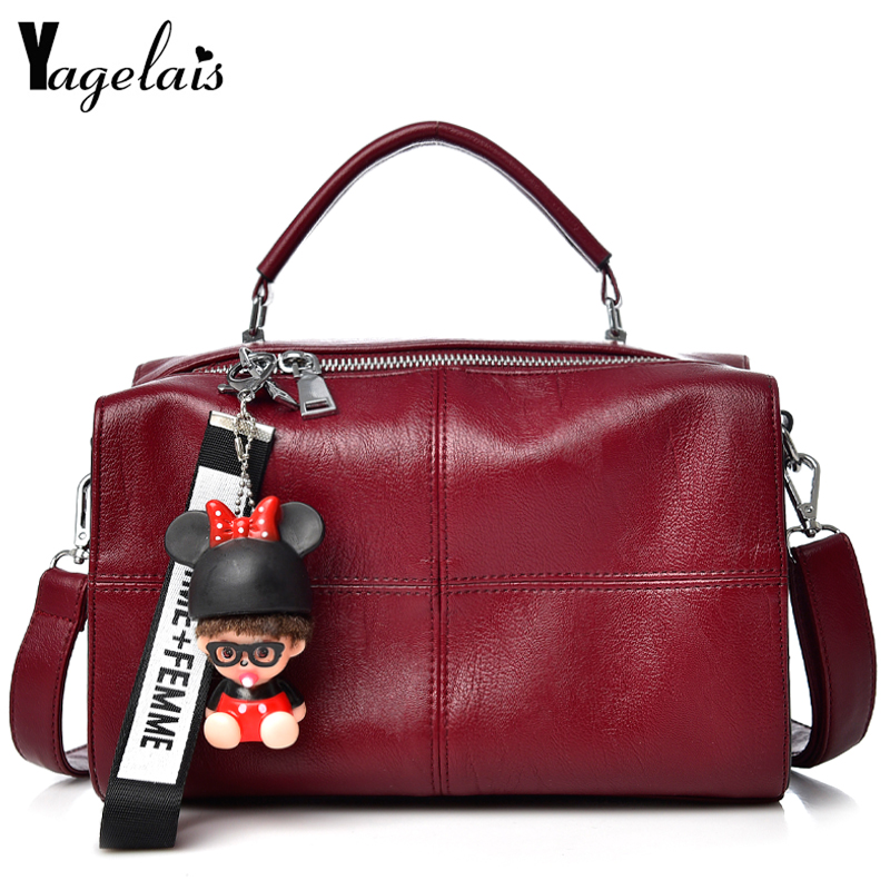 2018 New Casual Women PU Leather Bags Zipper Hasp Single Shoulder Crossbody Bags Soft Fashion Beading Womens Handbags Big Totes<br>