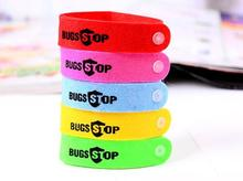 10pcs Anti Mosquito Bug Repellent Wrist Band Bracelet Insect Nets Bug Lock Camping safer anti mosquitoe bracelet for Children