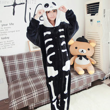 Skeleton Anime adult onesies Pyjamas Cartoon Animal Cosplay Costume Pajamas adult Onesies Sleepwear Halloween