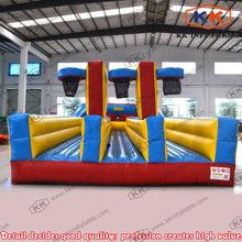 inflatable bungee sports challenge basketball bungee run