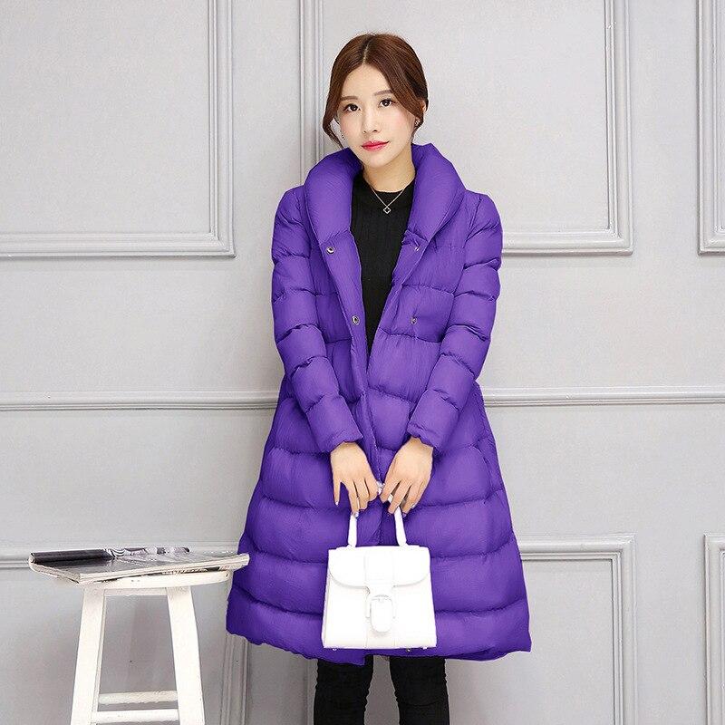 Winter Jacket Women Long Sleeve Padded Warm Coat  Korean Oversize New Female Winter Parka Elegant Adjustable Waist StyleÎäåæäà è àêñåññóàðû<br><br>