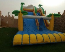 customized inflatable playground china amusement park giant inflatable slide(China)
