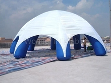 Custom large outdoor waterproof event space white blue spider inflatable dome tent for advertising(China)