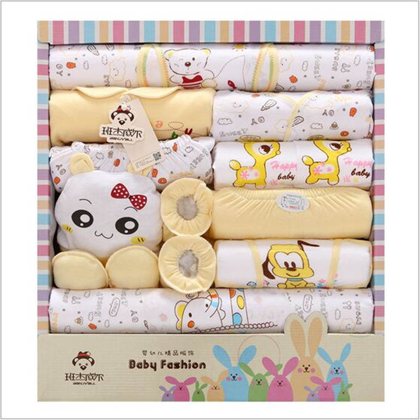 18 Pcs/ Lot Newborn Gift Set Baby Girl Clothes Spring And Summer Cotton Long Sleeve O-Neck Baby Boy Clothing Set Hot Sale<br><br>Aliexpress
