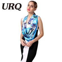 New Spring Scarf Design for 2017 Women's 100% Silk Satin Square Scarves Wraps Lady's Shawl Bandana Soft 60*60cm S9A9640(China)
