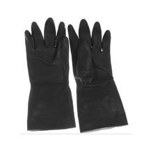 Yuntab Black thick rubber protective gloves laboratory anti - acid - base protective gloves wear - resistant work gloves