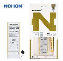 100% Original NOHON 1700mAh Battery For iPhone 5S 5C High Capacity With Retail Package + Free Machine Tools Cell phone batteries