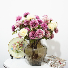 3 Buds Fake Artificial Chrysanthemum European Silk Flowers para decora o for Wedding Home Party Decoration DIY cheap flower