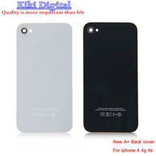 WOJOQ High Quality Mobile Phone Back Housing for iPhone 4 4s 4g Battery Door Wholesale Back Glass Cover Free Shipping