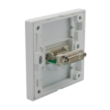 DVI wall plate with backside female to female connection