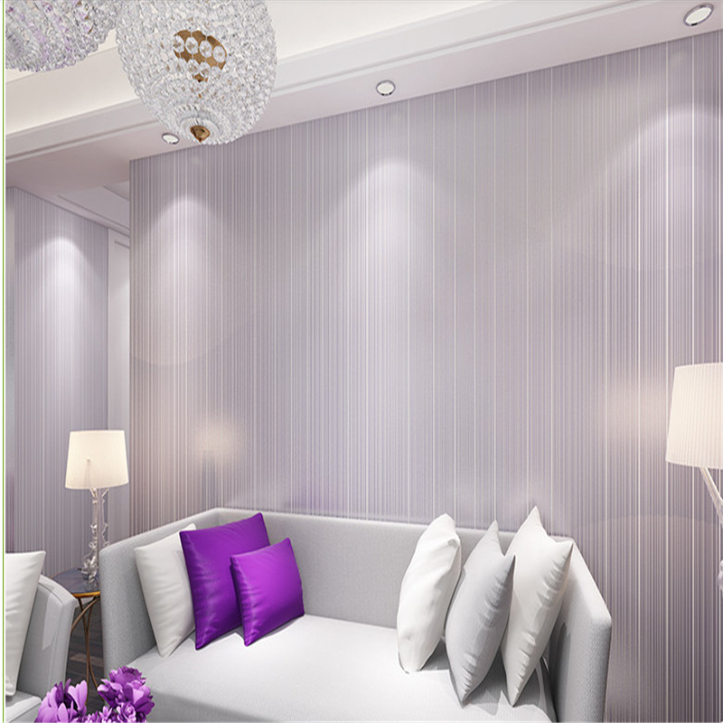 Modern simple and warm fine stripes 3D stereo pure color color wallpaper bedroom living room TV background wallpaper<br><br>Aliexpress