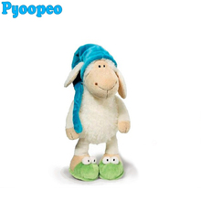 Pyoopeo Nici Plush toy 25cm Jolly Sleepy Sheep Plush Doll Animal Toy Children Birthday Gift