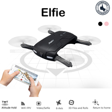 Elfie Foldable Mini RC Selfie drone, JJRC H37 with 2MP Camera Altitude Hold FPV Transmission Quadcopter Dron WiFi Phone Control