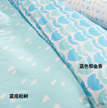 width 235CM* 50CM blue pine tulip modern brief 100% cotton fabric baby bedding quilt pillow case sewing tecidos diy fabric
