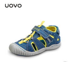 UOVO 2016 summer Children's shoes boys sandals for girls non-slip comfortable closed toe beach shoes kids sandals sandales fille(China)