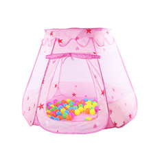 Cute Children Kid Balls Pit Pool Game Play Tent Indoor Outdoor Gaming Toys Hut for Baby Toddlers 120*90*70cm(China)
