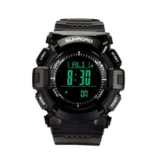 SUNROAD Multifunction Outdoor Sports Compass Watches Hiking Men's Digital Electronic Watches Chronograph Wristwatches(China)