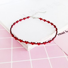 Fashion Very simple heart to love heart fresh skin clavicle necklace jewelry wholesale(China)