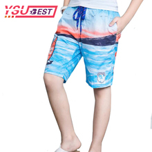 2018 Summer Boy Shorts 7-15Years Big Kid Boy's Baby Boy Clothes Surf New Board Shorts Beach Swim Children Sport Trunks Short(China)