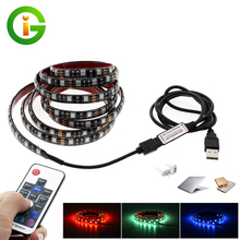 5V USB LED Strip 5050 RGB TV Background Lighting 60LEDs/m 50cm / 1m / 2m Set.