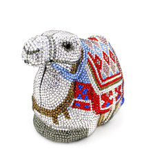 2017 Real Sale Minaudiere Luxury Crystal Women Clutch Womens Bead Evening Bags Rhinestone Animal Camel Shaped Purse Smyzh-f0203