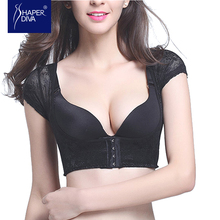Shaper diva Women Push Up Shaper Body Control Sexy Lace Shapewear No Cup Bra Shapers Underwear Back Support Shaperwear(China)