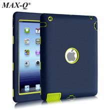 NEW For Apple ipad 2/ipad 3 4 case Amor Heavy Duty Drop resistance Shock Proof tablet Case free Screen protector film+stylus