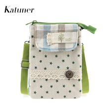 Katuner New Arrival Fresh Women Crossbody Bags Mini Canvas Shoulder Bag Female Purses And Handbags Baobao Sac A Main KB052(China)