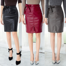 Buy 2017 Autumn New Women Faux Leather Skirts Ladies Black PU Mini Skirt Fashion High Waist Lace-up Pencil Skirt High for $18.69 in AliExpress store